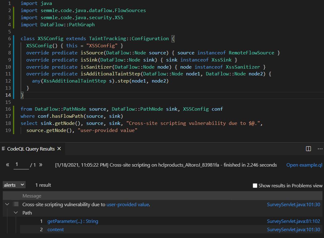 в расширении для VSCode: