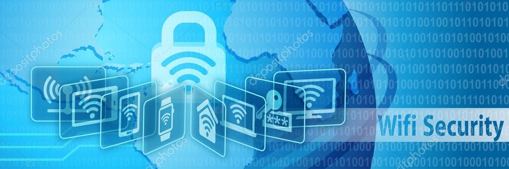 Wifi Security Protection Banner ⬇ Stock Photo, Image by © arrow123  #113094658