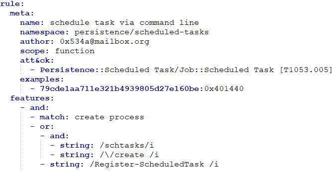 CAPA-правило: schedule task via command line