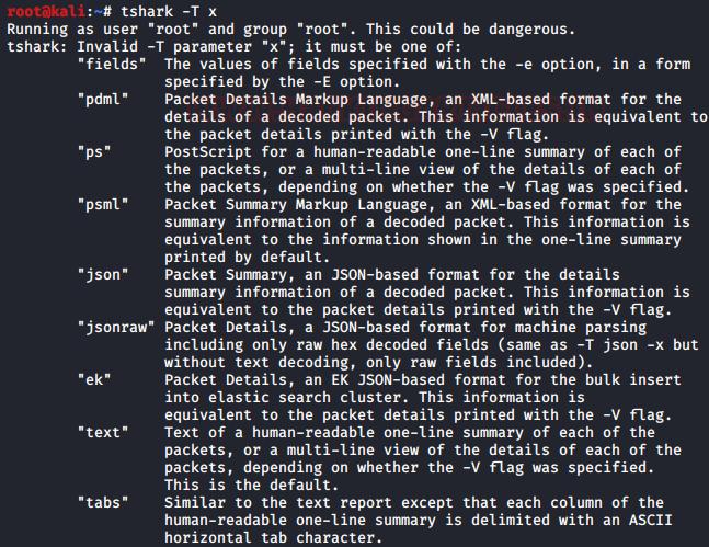 Как работать с анализатором TShark