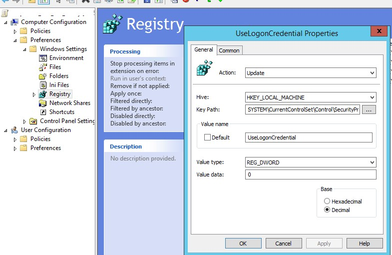 UseLogonCredential - отключение WDigest в Windows