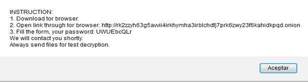 Сообщение браузера с инструкциями