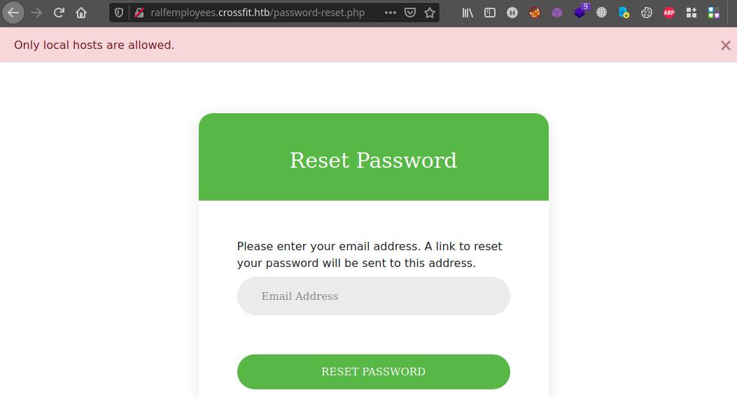 Запрос смены пароля  Захват машины сложности Insane с площадки Hack The Box