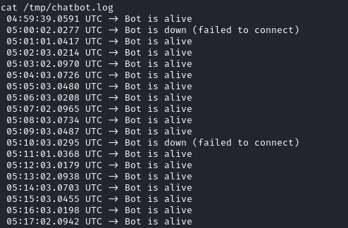 Содержимое файла /tmp/chatbot.log